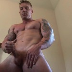 Southern Strokes Clayton Jasper Bodybuilder Jackoff 16 150x150 Hung Straight Amateur Bodybuilder Masturbates and Shoots a Huge Load of Cum