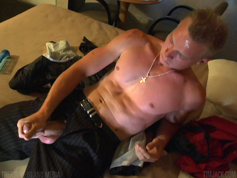 Treasure-Island-Media-TimJack-Andyrs-jack-off-1 Hung Amateur Jacks Off His Huge Cock In A Sleazy Motel Room