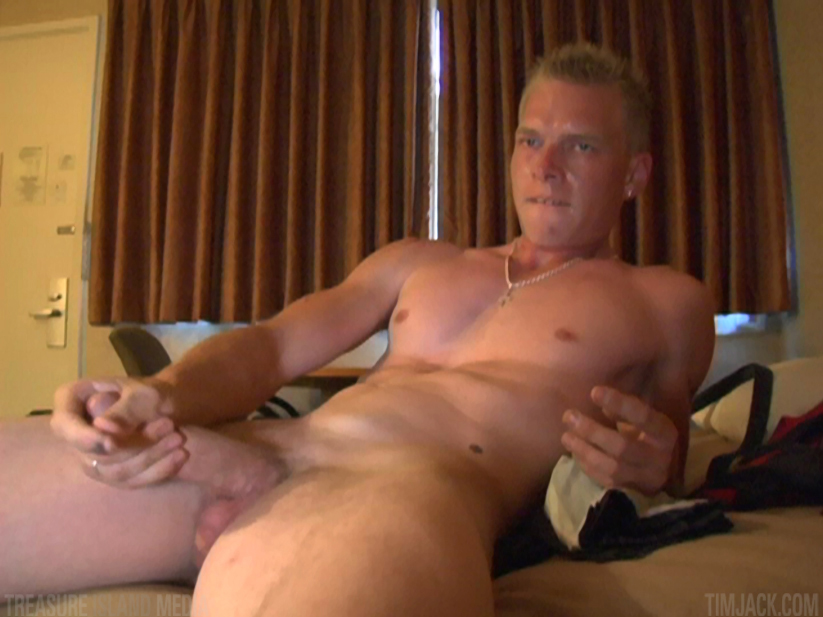 Treasure-Island-Media-TimJack-Andyrs-jack-off-3 Hung Amateur Jacks Off His Huge Cock In A Sleazy Motel Room