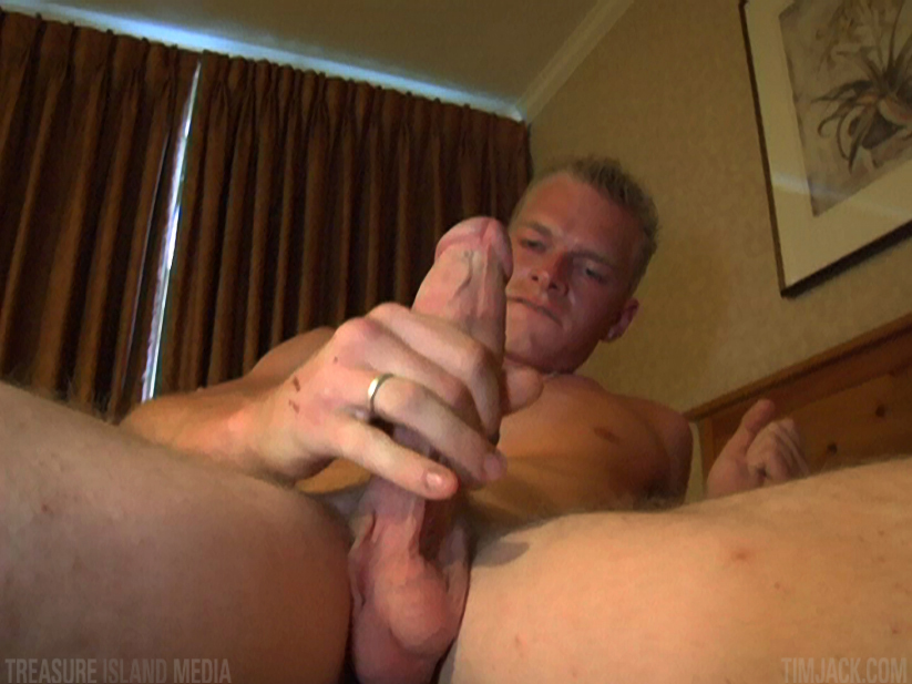 Treasure-Island-Media-TimJack-Andyrs-jack-off-4 Hung Amateur Jacks Off His Huge Cock In A Sleazy Motel Room