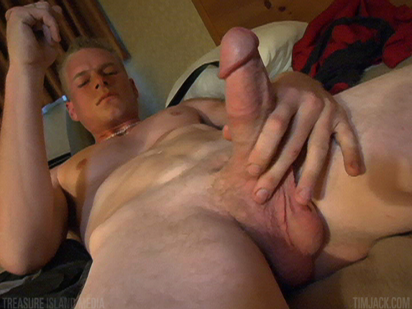 Treasure-Island-Media-TimJack-Andyrs-jack-off-7 Hung Amateur Jacks Off His Huge Cock In A Sleazy Motel Room