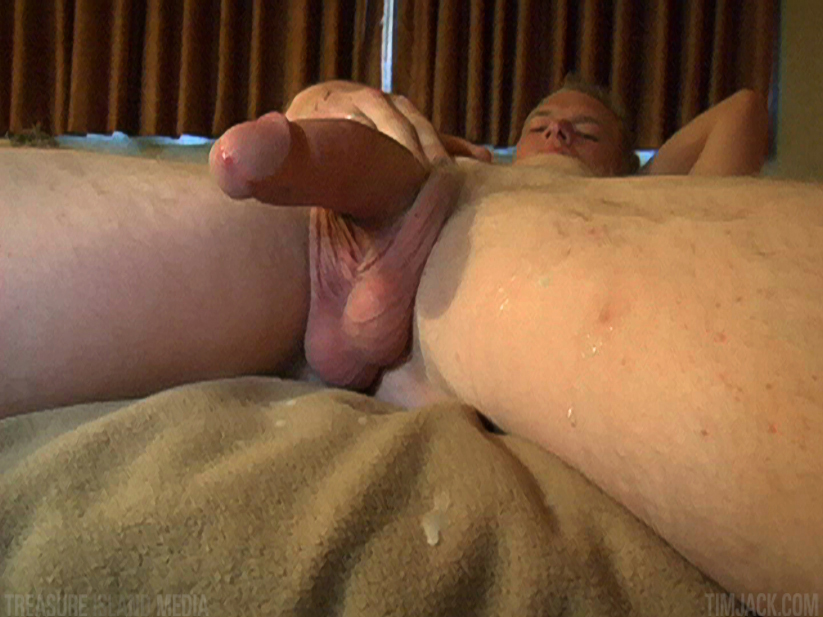 Treasure-Island-Media-TimJack-Andyrs-jack-off-9 Hung Amateur Jacks Off His Huge Cock In A Sleazy Motel Room