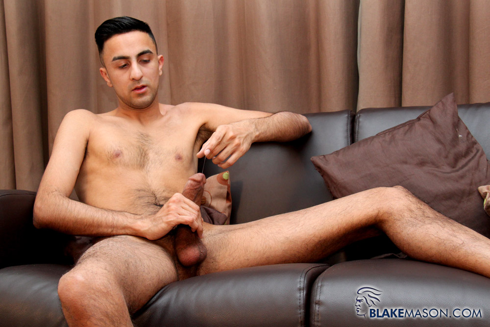 BlakeMason Jamal Jones Solo Jack Off 20 Amateur Skinny Young Hairy Arab Jerks His Hung Arab Cock