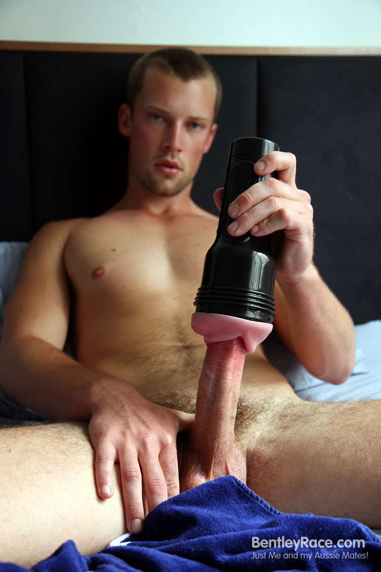 Bentley-Race-Lincoln-Ashby-huge-uncut-cock22 Amateur Blond and Hairy Soccer Player Uses a Fleshjack On His Huge Cock