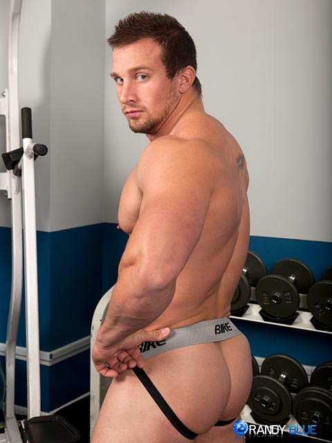 Randy-Blue-Hunter-Manning-Muscle-Jerk-Off-05 Straight Sexy Muscle Guy Stokes His Huge Thick Cock
