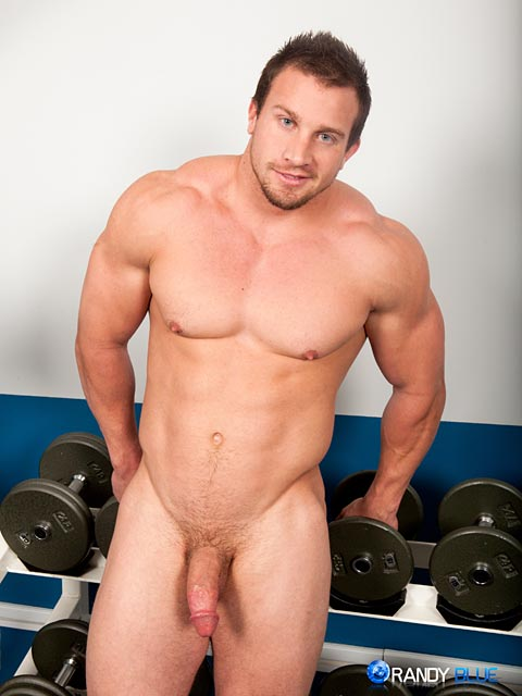 Randy-Blue-Hunter-Manning-Muscle-Jerk-Off-10 Straight Sexy Muscle Guy Stokes His Huge Thick Cock