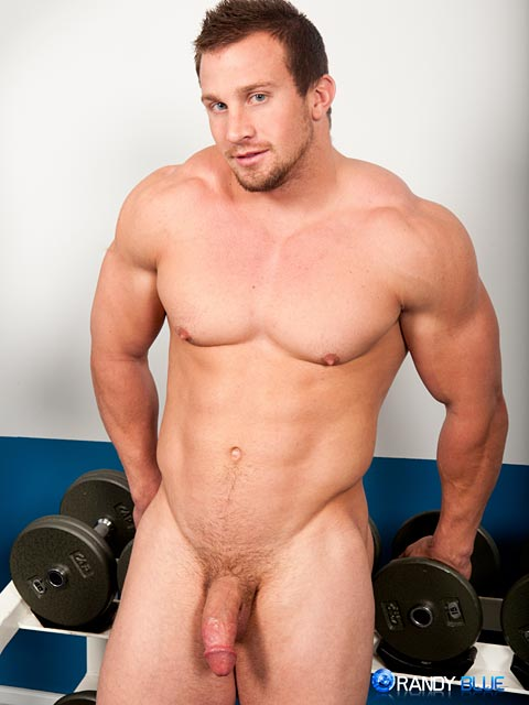Randy-Blue-Hunter-Manning-Muscle-Jerk-Off-11 Straight Sexy Muscle Guy Stokes His Huge Thick Cock