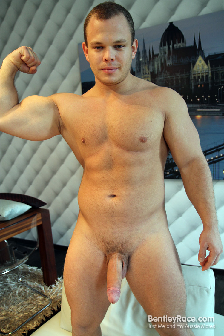 Bentley-Race-Dennis-Conerman-Beefy-Muscle-Cub-With-A-Huge-Uncut-Cock-Amateur-Gay-Porn-12 Amateur Hungarian Beefy Muscle Cub Dennis Conerman and His Thick Uncut Cock
