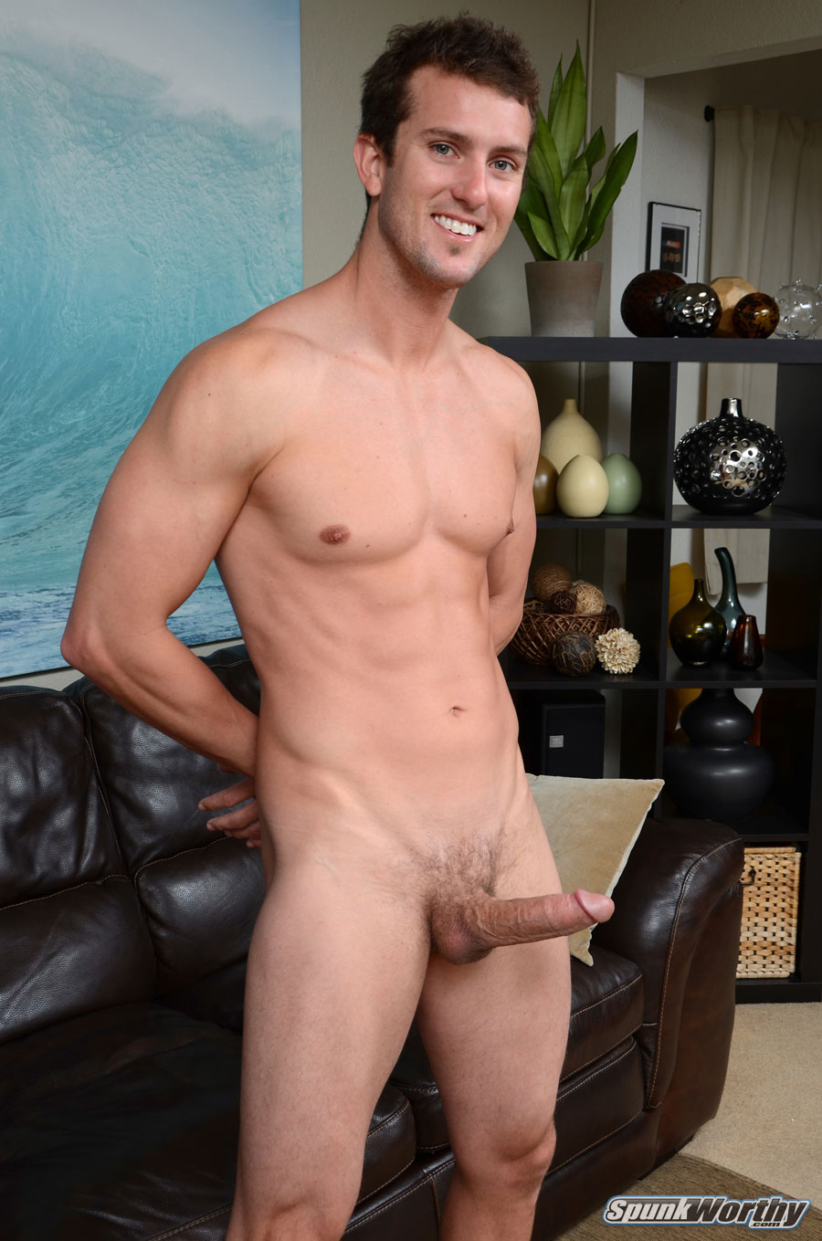 SpunkWorthy-Tommy-Straight-Guy-With-Big-Cock-Handjob-Amateur-Gay-Porn-07 Amateur Straight Surfer Gets His First Handjob From A Guy