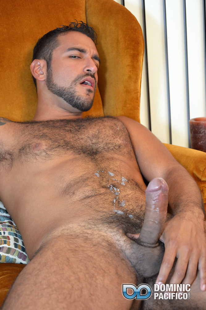 DOMINIC-PACIFICO-Nicko-Morales-Big-Uncut-Cock-Masturbation-Amateur-Gay-Porn-20 Amateur Straight Muscular Hairy Hunk With Huge Uncut Cock Jerks Out A Huge Cum Load