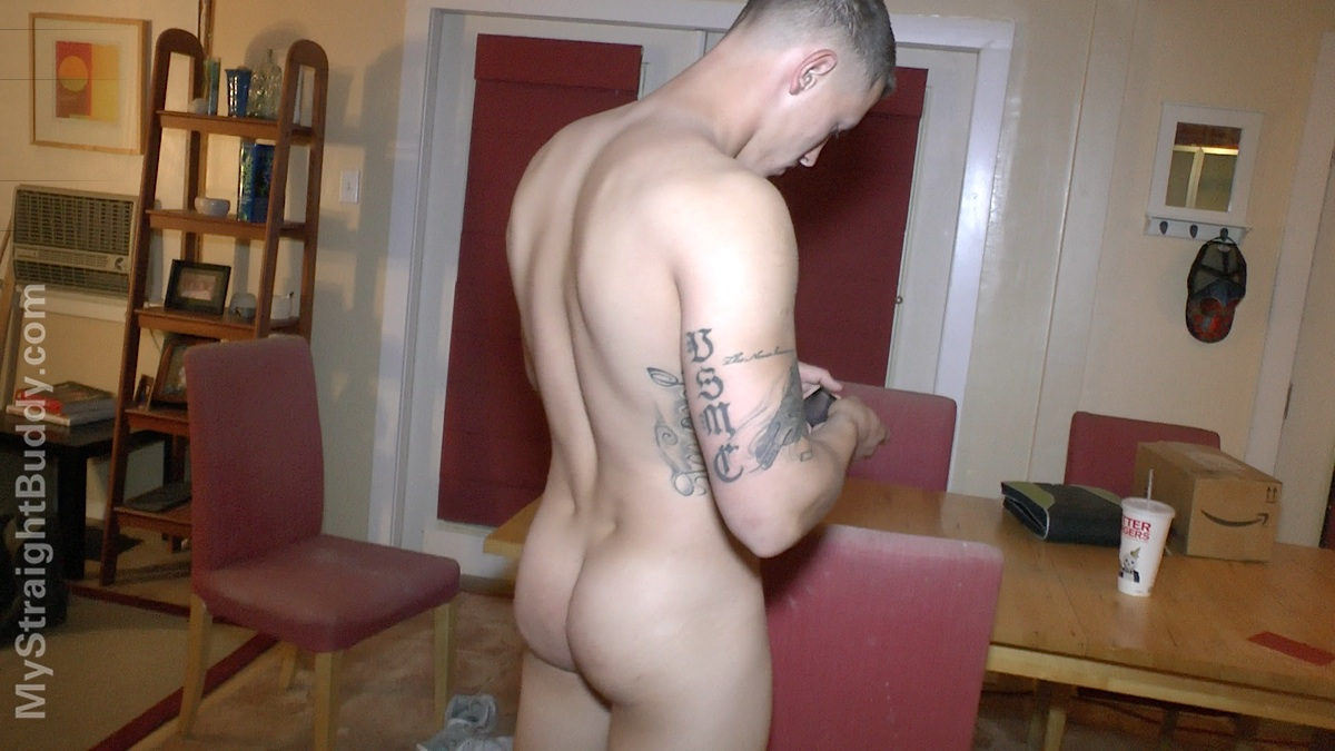 My Straight Buddy Scott Marine Masturbating Jerking Off Amateur Gay Porn 13 Real Straight Naked Marine Lets It All Hang Out With His Cock Out