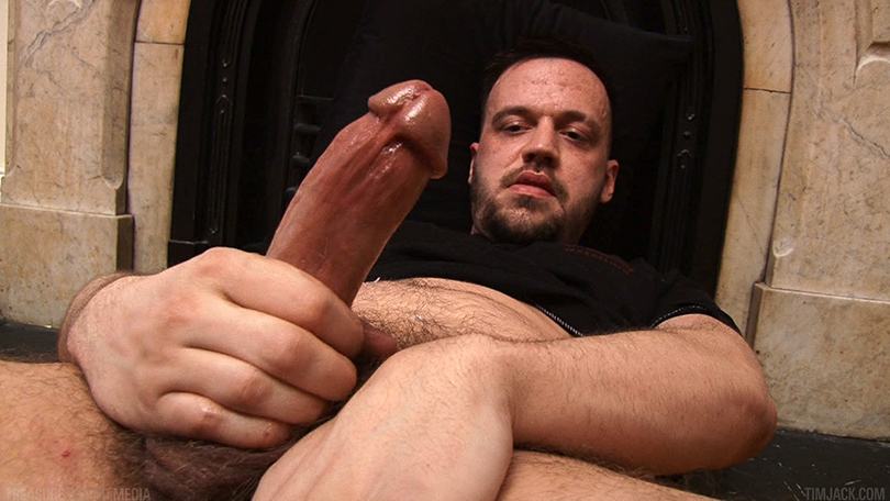 Treasure-Island-Media-TIMJack-Hunter-James-Beefy-Jerk-Off-Cum-Eating-Gay-Porn-4 Amateur Beefy Guy Jerks His Thick Cock and Eats His Hot Cum
