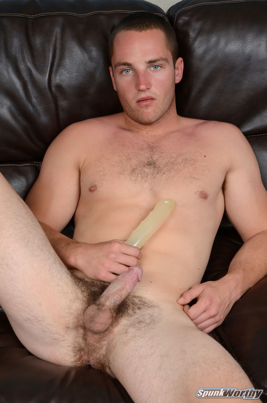 SpunkWorthy Dean Straight Marine Uses A Dildo On Hairy Ass Amateur Gay Porn 03 Ripped Marine Fucks His Straight Hairy Ass With A Dildo