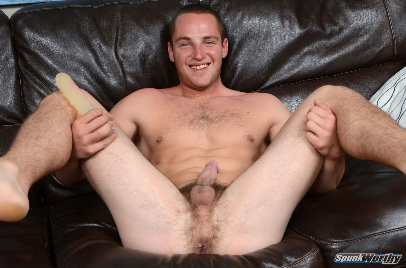 SpunkWorthy Dean Straight Marine Uses A Dildo On Hairy Ass Amateur Gay Porn 04 Ripped Marine Fucks His Straight Hairy Ass With A Dildo
