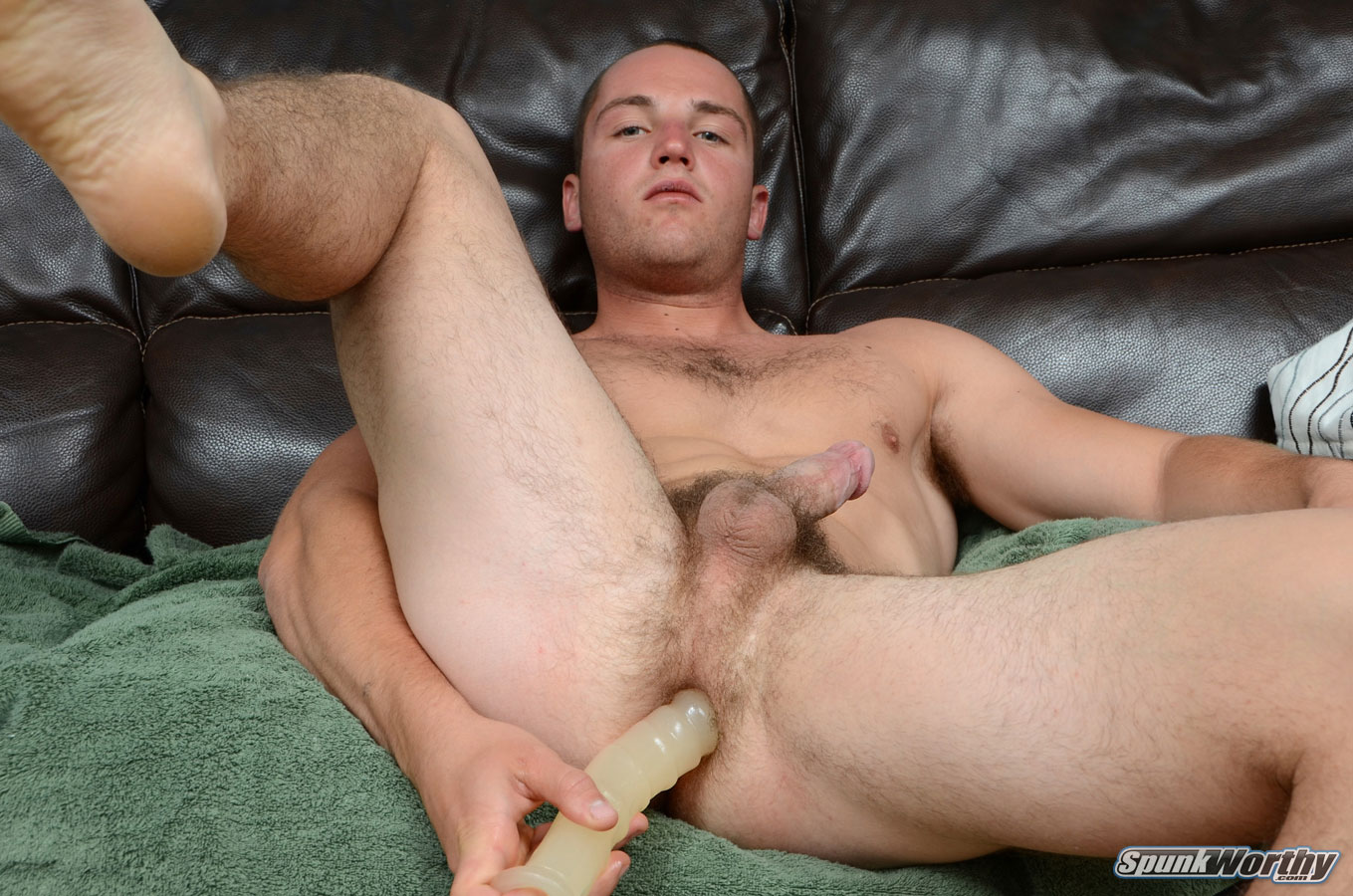 SpunkWorthy Dean Straight Marine Uses A Dildo On Hairy Ass Amateur Gay Porn 05 Ripped Marine Fucks His Straight Hairy Ass With A Dildo