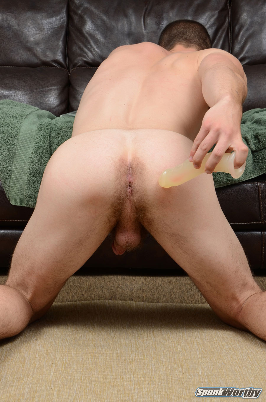 SpunkWorthy-Dean-Straight-Marine-Uses-A-Dildo-On-Hairy-Ass-Amateur-Gay-Porn-09 Ripped Marine Fucks His Straight Hairy Ass With A Dildo