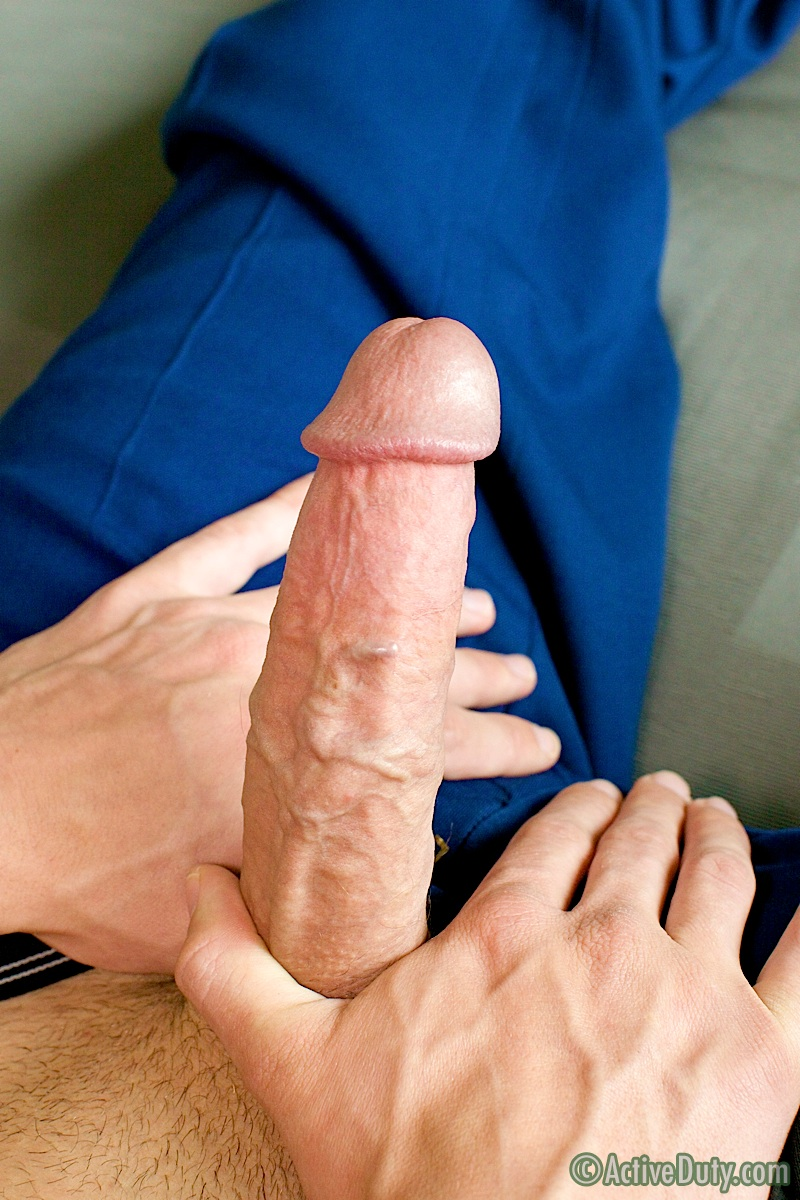 ActiveDuty-Jackson-Marine-With-Big-Cock-Masterbating-Amateur-Gay-Porn-09 Amateur Hung Marine Jackson Jerks His Massive 10 Inch Cock