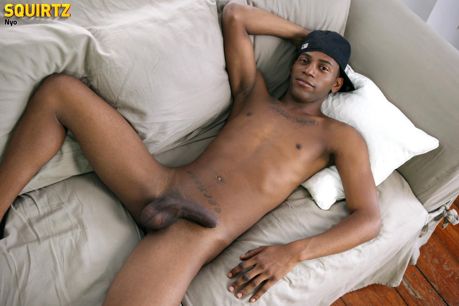 UNCUT EBONY GAY JERK OFF