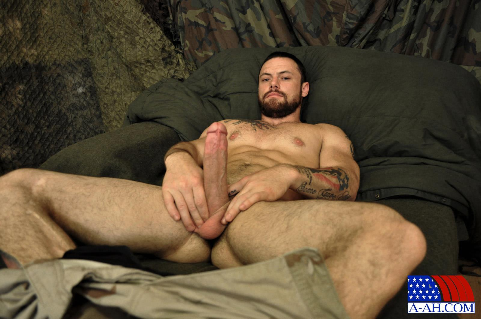 All-American-Heroes-Sergeant-Miles-Army-Guy-Jerking-Off-Big-Cock-And-Fingering-Ass-Amateur-Gay-Porn-08 Happy Veterans Day: Straight US Army Sergeant Jerks His Thick Cock