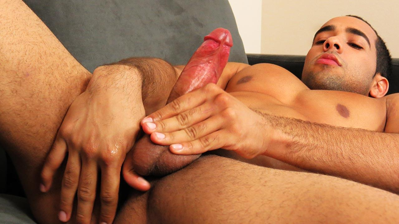 Uncut guys shooting cum onto gay luke tyler