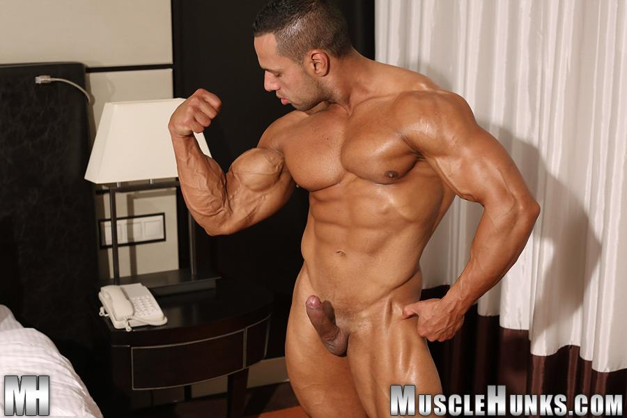 MuscleHunks-Cosmo-Babu-Naked-Bodybuilder-Stroking-A-Huge-Cock-Amateur-Gay-Porn-14 Huge Professional Bodybuilder Shows And Strokes His Huge Cock