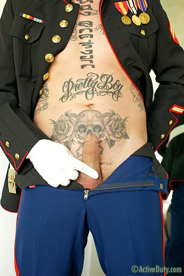 ActiveDuty Marine Quinn Straight Marine Jerking Off Thick Cock Amateur Gay Porn 05 Real Tatted Straight Marine Jerking His Thick Cock