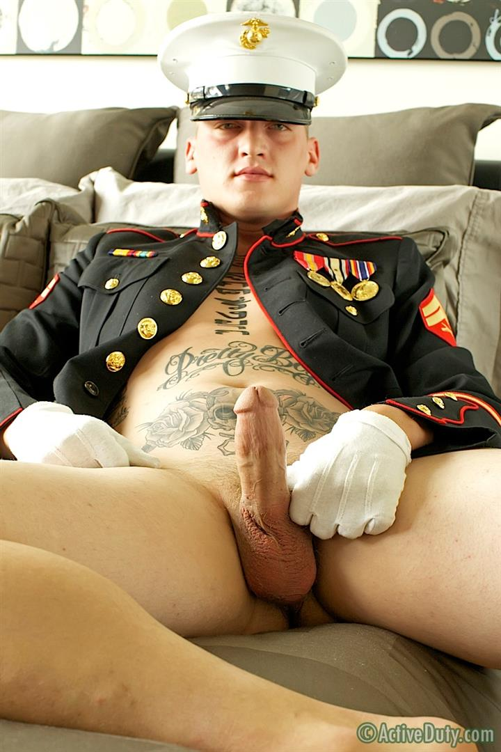 ActiveDuty Marine Quinn Straight Marine Jerking Off Thick Cock Amateur Gay Porn 08 Real Tatted Straight Marine Jerking His Thick Cock