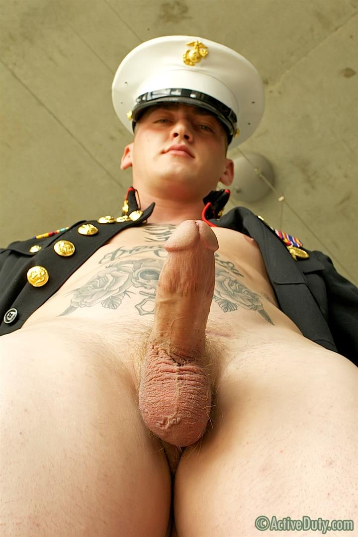 ActiveDuty Marine Quinn Straight Marine Jerking Off Thick Cock Amateur Gay Porn 11 Real Tatted Straight Marine Jerking His Thick Cock