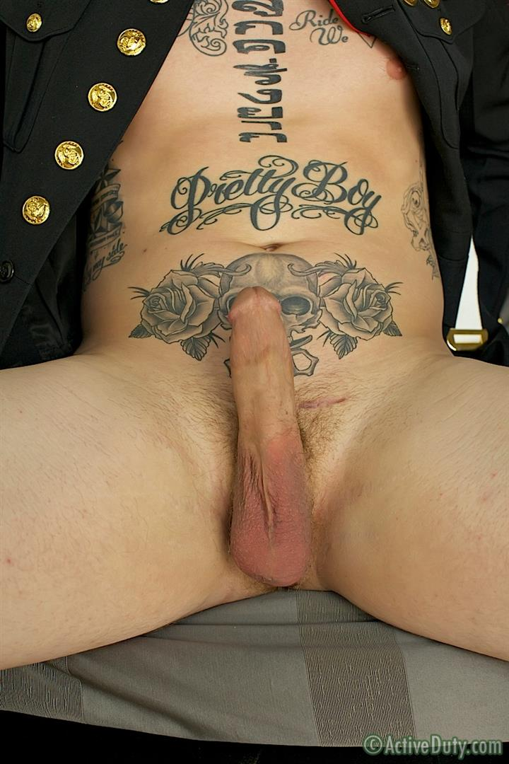 ActiveDuty Marine Quinn Straight Marine Jerking Off Thick Cock Amateur Gay Porn 15 Real Tatted Straight Marine Jerking His Thick Cock