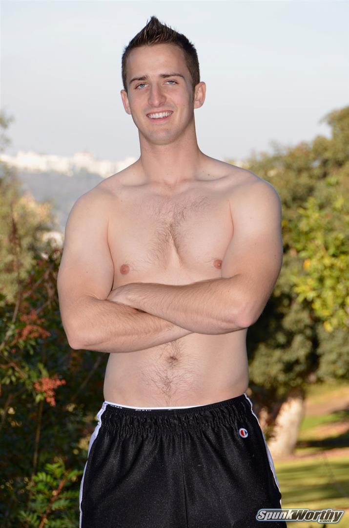 Spunkworthy-Jordan-College-Baseball-Player-Jerking-Off-Big-Cock-Amateur-Gay-Porn-01 23 Year Old Straight College Baseball Player Rubs One Out