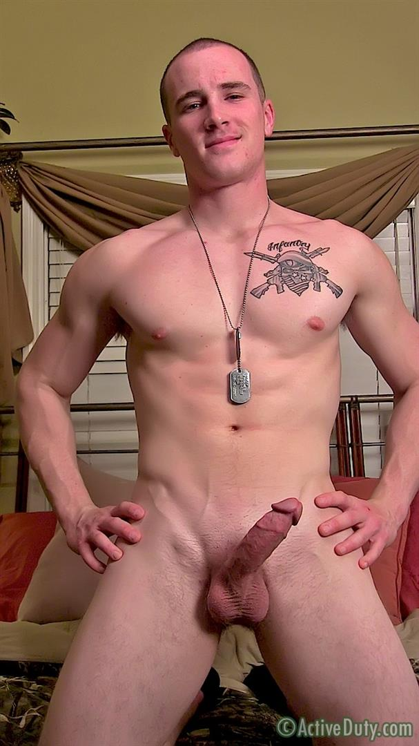 ActiveDuty-Orion-Ripped-Army-Guy-Jerking-His-Big-Cock-Amateur-Gay-Porn-16 Straight US Army Soldier Orion Jerking His Thick Cock