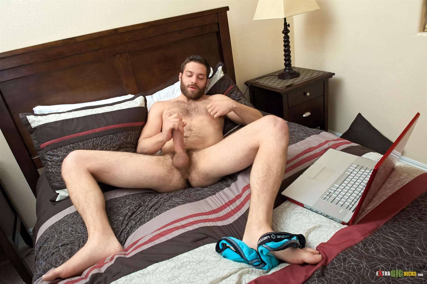 Extra-Big-Dicks-Tommy-Defendi-Hairy-Muscle-Guy-Jerking-Off-Amateur-Gay-Porn-07 Hairy Muscle Stud Tommy Defendi Jerking Off His Big Thick Cock