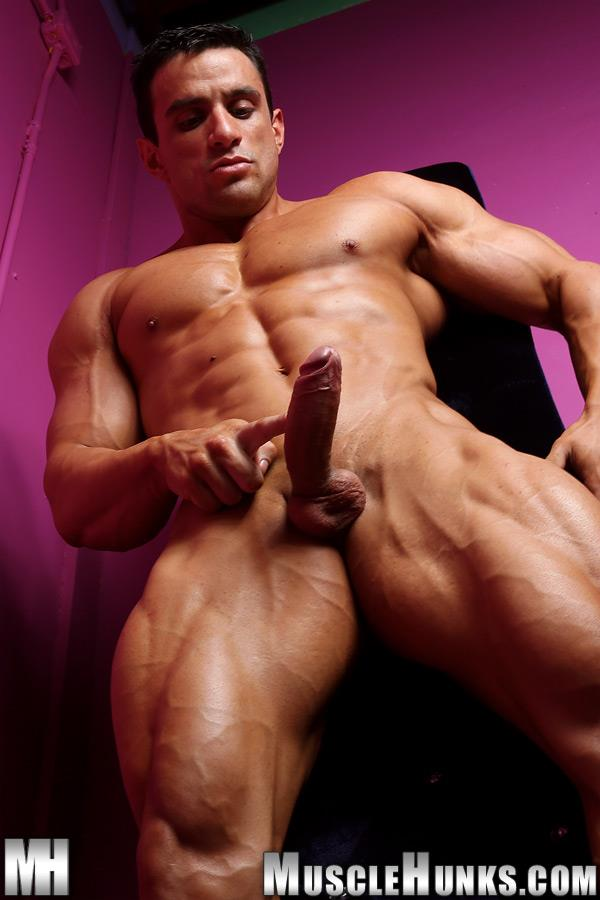 Muscle-Hunks-Macho-Nacho-Powerlifter-With-A-Big-Uncut-Cock-Amateur-Gay-Porn-07 Muscle Hunk Macho Nacho Playing With His Big Uncut Cock
