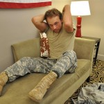 All American Heroes US Army Specialist Clark Jerking His Big Hairy Cock Amateur Gay Porn 02 150x150 US Army Specialist Masturbating His Hairy Curved Cock