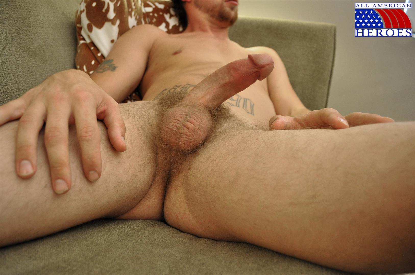 All American Heroes US Army Specialist Clark Jerking His Big Hairy Cock Amateur Gay Porn 11 US Army Specialist Masturbating His Hairy Curved Cock