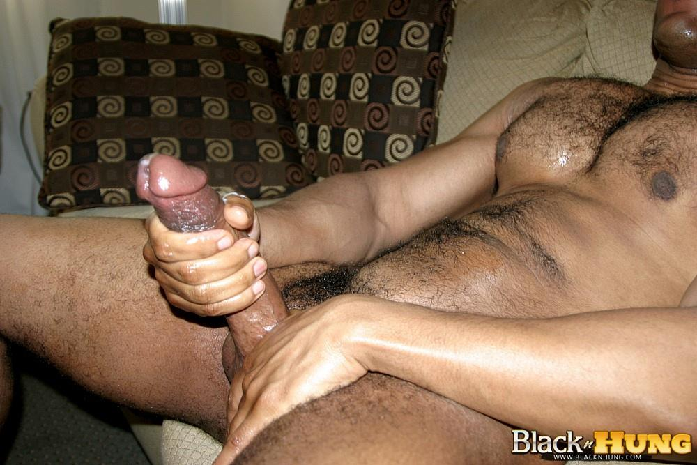 Lewd Ebony Guy Beating Off