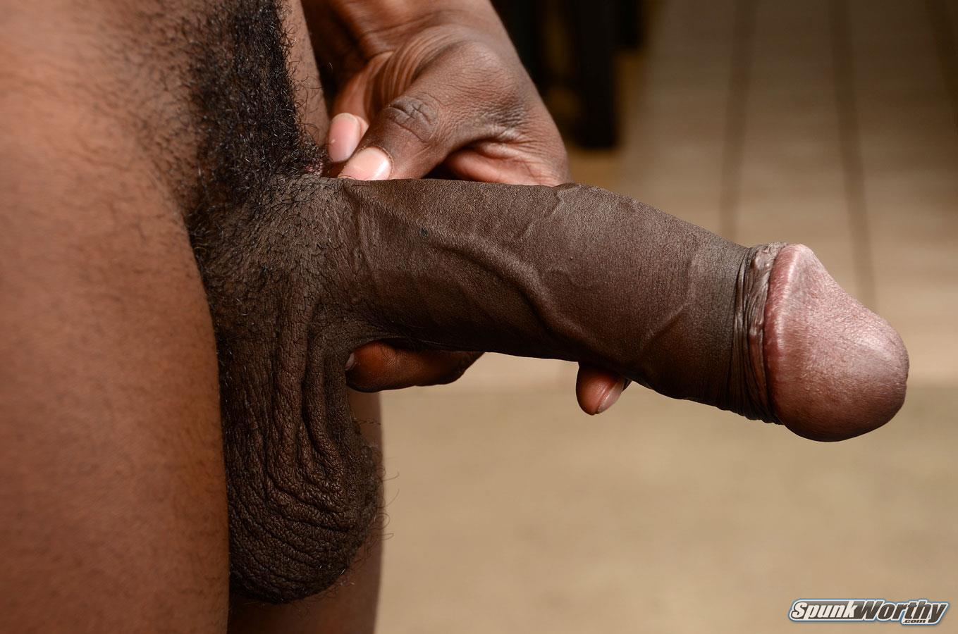SpunkWorthy-Heath-Naked-College-Football-Player-Stroking-His-Big-Black-Cock-Amateur-Gay-Porn-09 Straight College Football Player Jerking His Big Uncut Black Cock