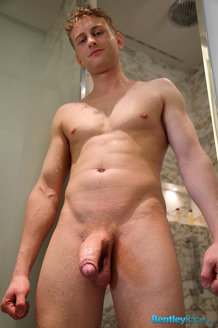 Bentley-Race-Phillip-Anderson-Swedish-Hunk-With-A-Huge-Uncut-Cock-In-The-Shower-Amateur-Gay-Porn-15 Blonde Swedish Hunk Jerking His Huge Uncut Cock In The Shower