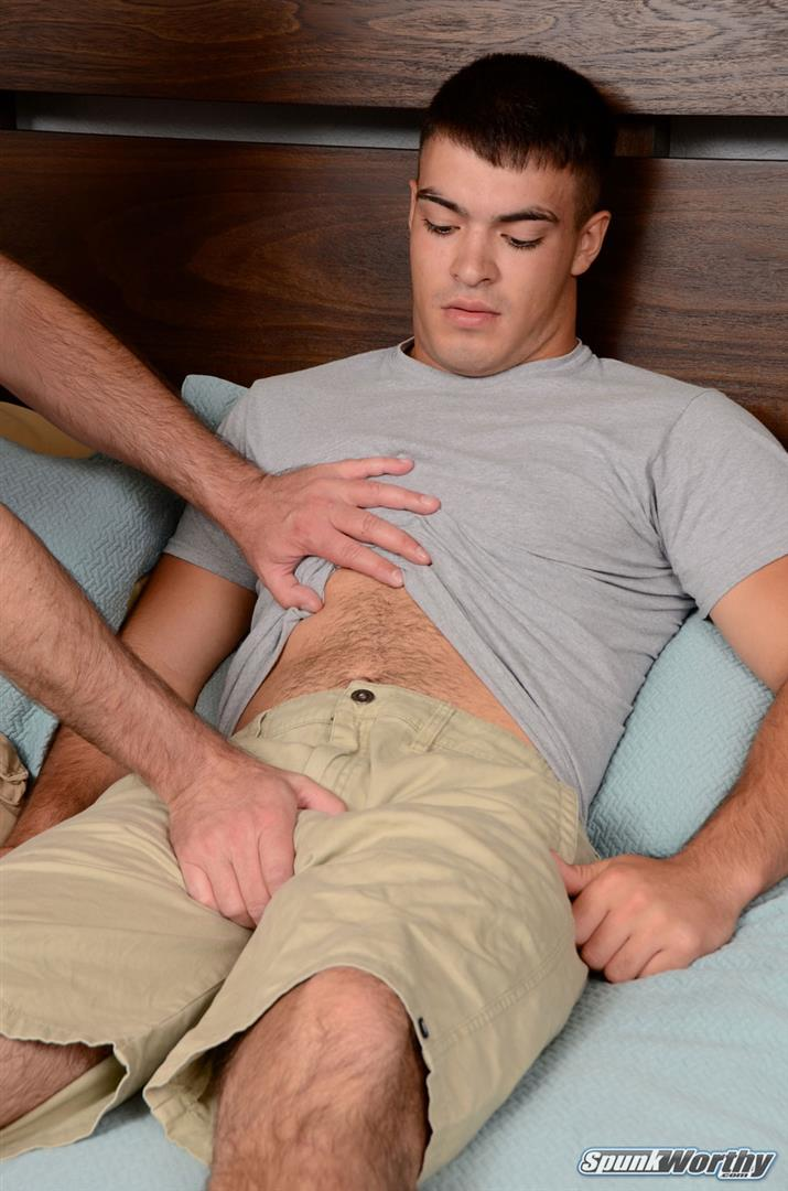 SpunkWorthy Nevin Straight Marine With A Hairy Ass Getting A Gay Blowjob Amateur Gay Porn 02 Straight Marine Gets Jerked and Sucked By Another Guy
