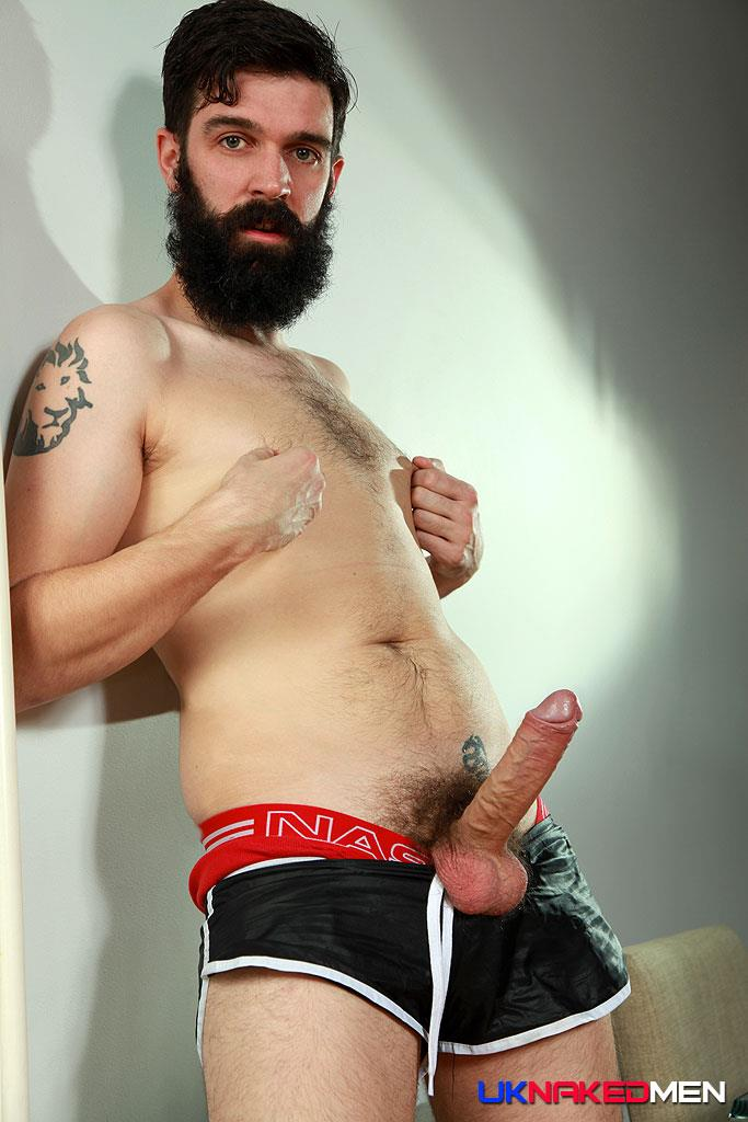 UK-Naked-Men-Tom-Long-Bearded-Guy-With-A-Big-Uncut-Cock-Jerk-Off-Amateur-Gay-Porn-08 Bearded Guy From England Jerking His Big Uncut Cock