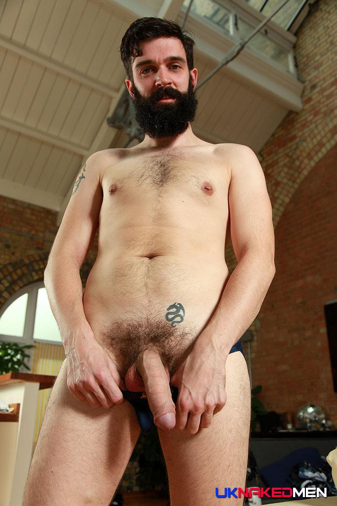 UK Naked Men Tom Long Bearded Guy With A Big Uncut Cock Jerk Off Amateur Gay Porn 12 Bearded Guy From England Jerking His Big Uncut Cock