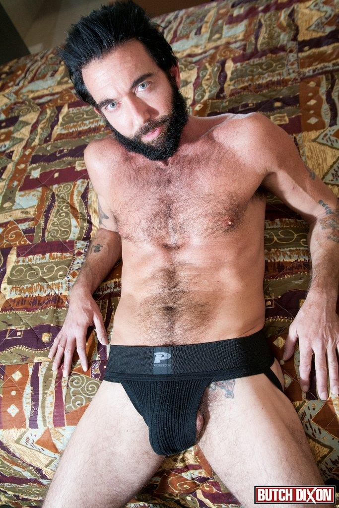 Butch Dixon Tom Nero Hairy Daddy Jerking Off A Big Fat Mushroom Head Cock Amateur Gay Porn 04 Hairy Stud Tom Nero Jerking His Thick Mushroom Head Cock