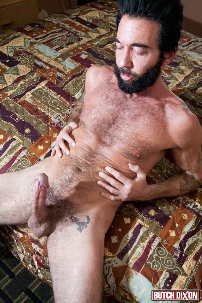 Butch Dixon Tom Nero Hairy Daddy Jerking Off A Big Fat Mushroom Head Cock Amateur Gay Porn 08 Hairy Stud Tom Nero Jerking His Thick Mushroom Head Cock