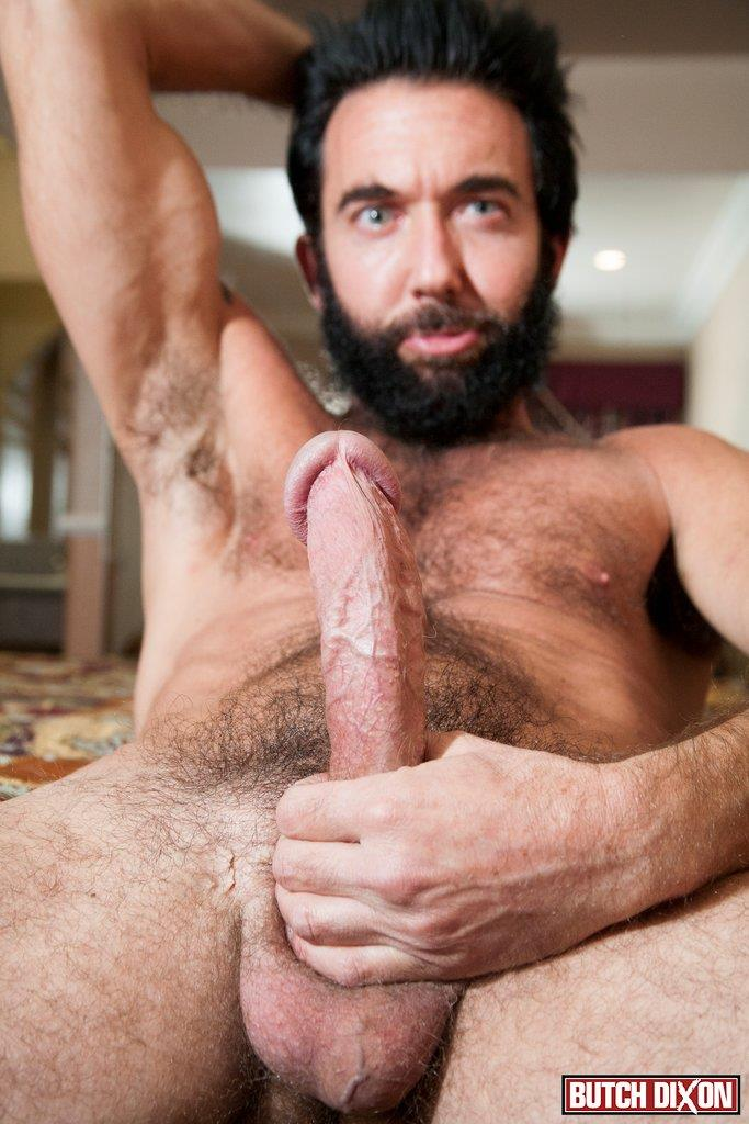 Butch Dixon Tom Nero Hairy Daddy Jerking Off A Big Fat Mushroom Head Cock Amateur Gay Porn 09 Hairy Stud Tom Nero Jerking His Thick Mushroom Head Cock