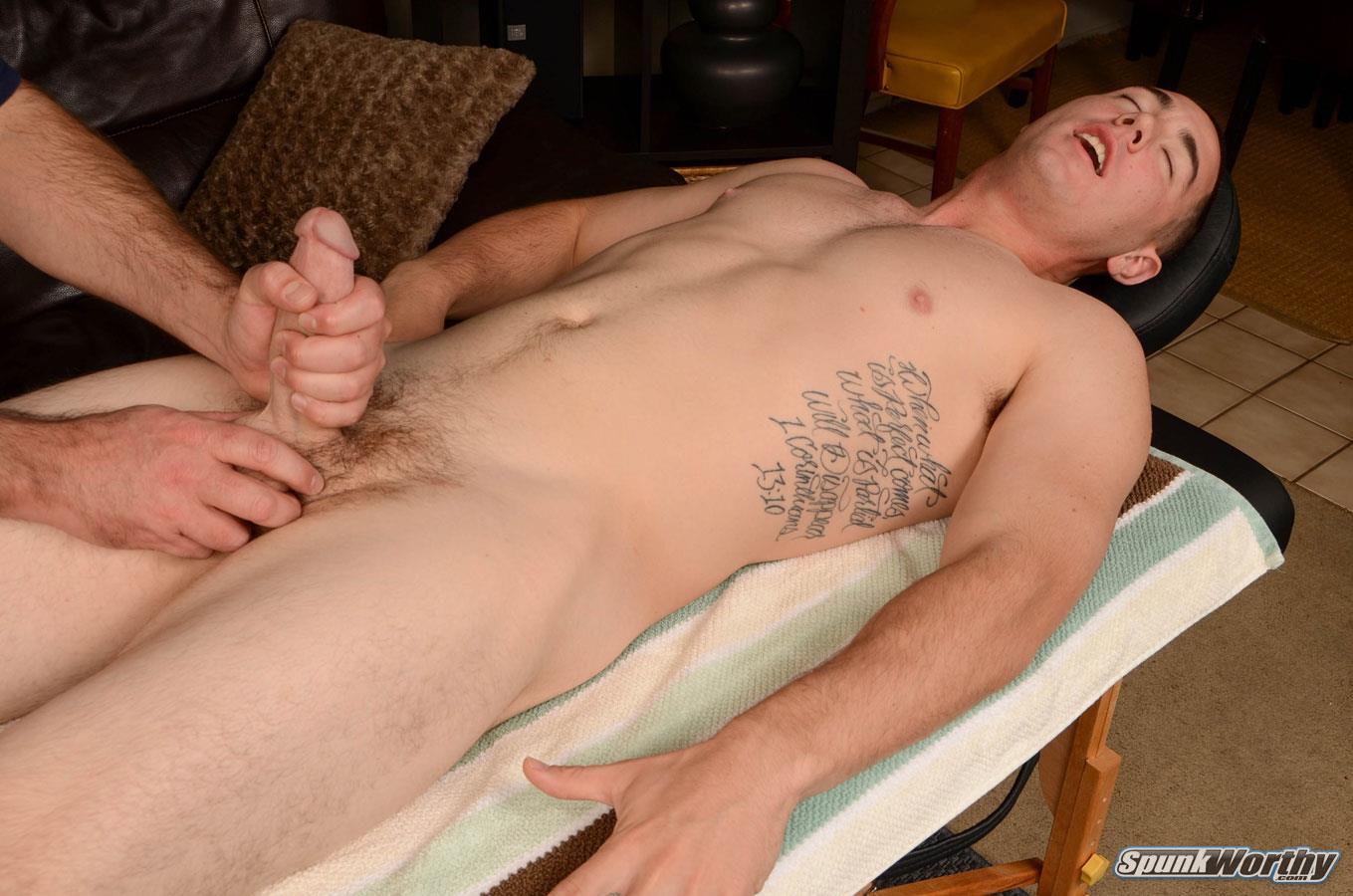 SpunkWorthy Damian Straight Marine Gets a Handjob From A Guy Amateur Gay Porn 14 Straight 22 Year Old Marine Gets A Handjob From A Guy
