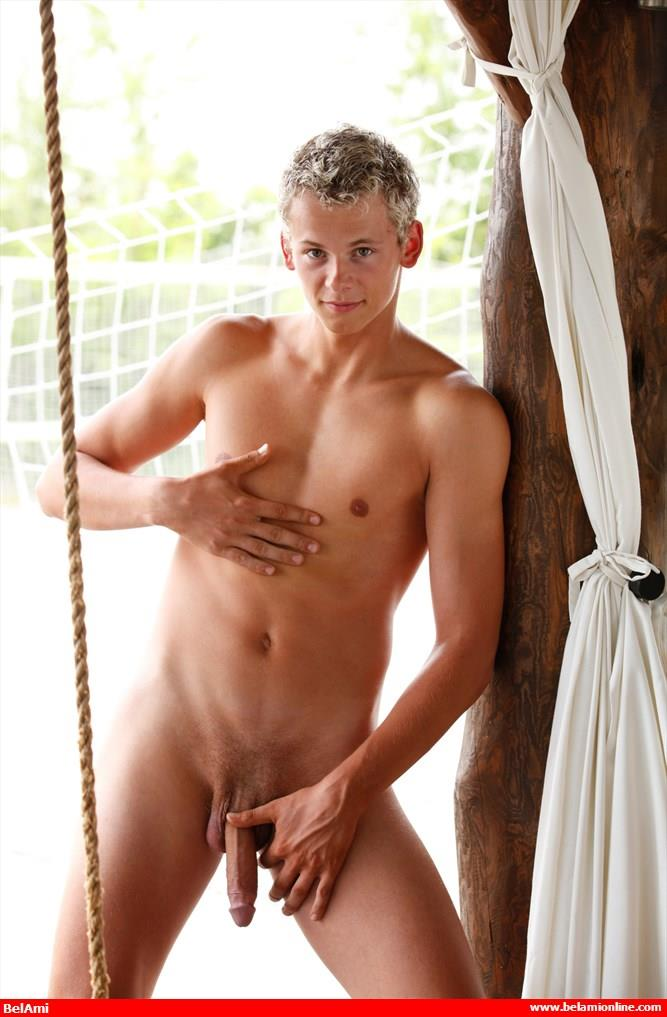 BelAmi Jerome Exupery Twink With A Big Uncut Cock Jerking Off Amateur Gay Porn 10 BelAmi: New Twink Jerome Exupery Model With A Big Uncut Cock