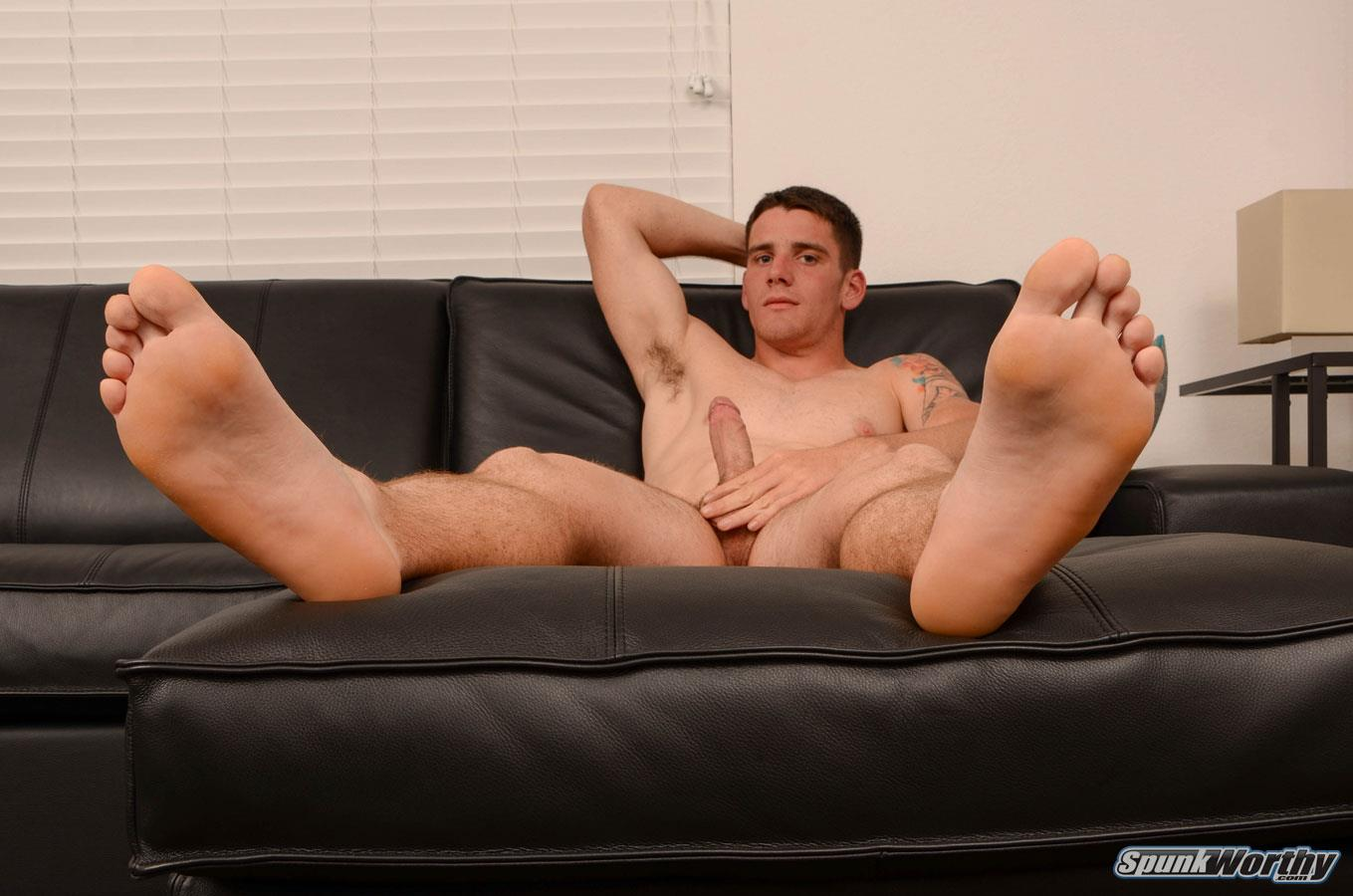 SpunkWorthy Dale Naked Football Jock Jerking Off His Big Cock Amateur Gay Porn 12 Straight Football Jock Jerks His Big Cock And Shows Off His Hairy Hole