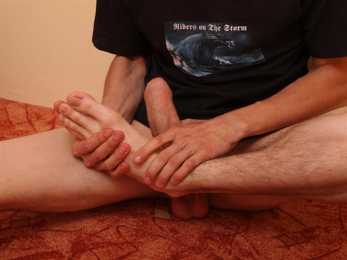 Toe Sucking Guys Eryk Twink Playing With His Feet and Big Uncut Cock Amateur Gay Porn 13 Twink Uses His Shoes and Socks To Jerk His Thick Uncut Cock