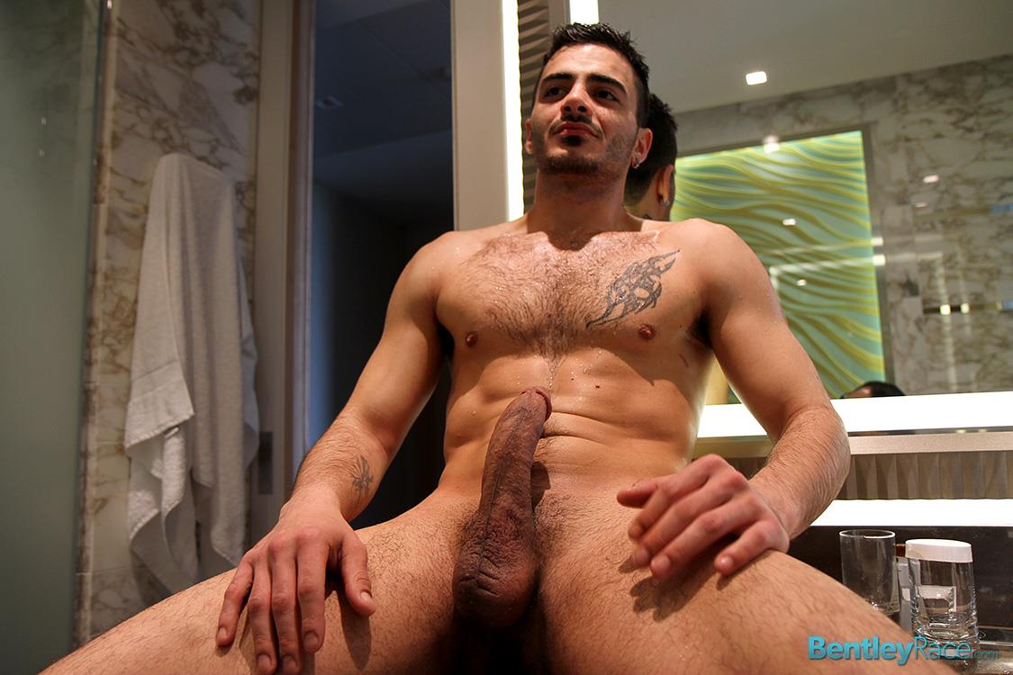 Bentley Race Aro Damacino Big Arab Cock Masturbation Bareback Sex Party Amateur Gay Porn 19 Muscular Middle Eastern Hunk Strokes His Big Arab Cock