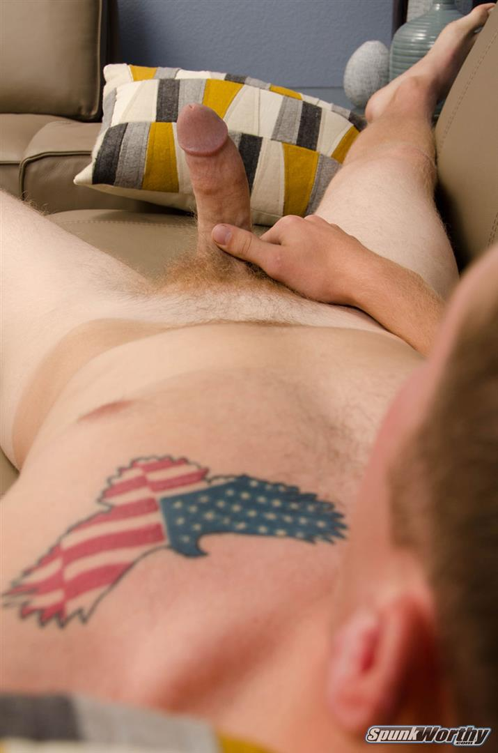 SpunkWorthy-Kenny-Straight-Redheaded-Army-Guy-Jerking-Off-Cock-Amateur-Gay-Porn-16 Straight Young Military Guy Stroking His Ginger Cock